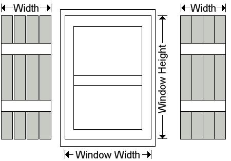 Exterior Shutters Board And Batten Window Shutter Measuring