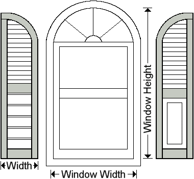 Combo Exterior Shutters Outdoor Outside Window Shutters