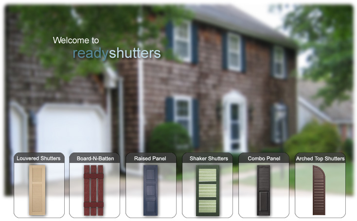 Vinyl exterior shutters improve the curb appeal of any house.