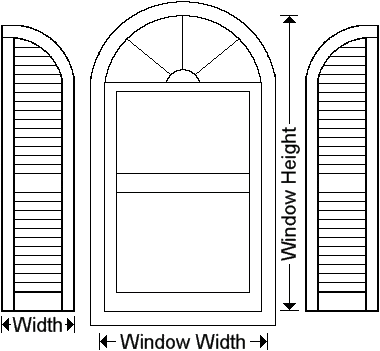 Exterior Shutters Louvered Outside Window Shutter Measuring