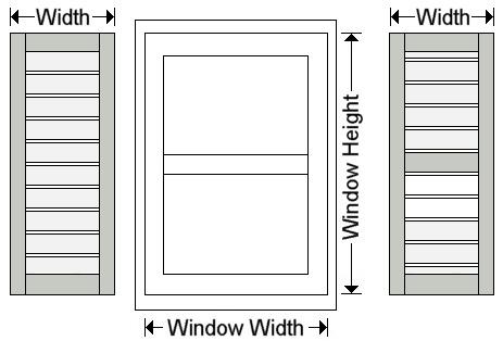 Exterior Shutters Shaker Outdoor Window Shutter Measuring